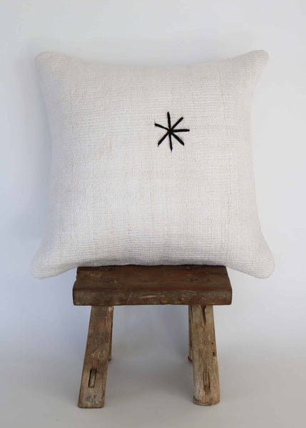 Vintage Hemp Kilim Pillow  (C)