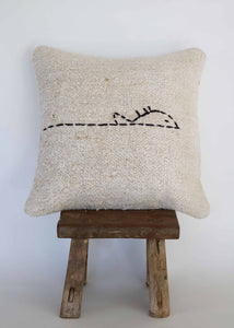 Vintage Hemp Kilim Pillow (B)