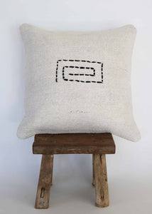 Vintage Hemp Kilim Pillow (A)