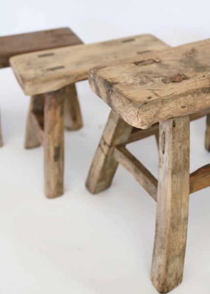 Small Vintage Farmer's Stool