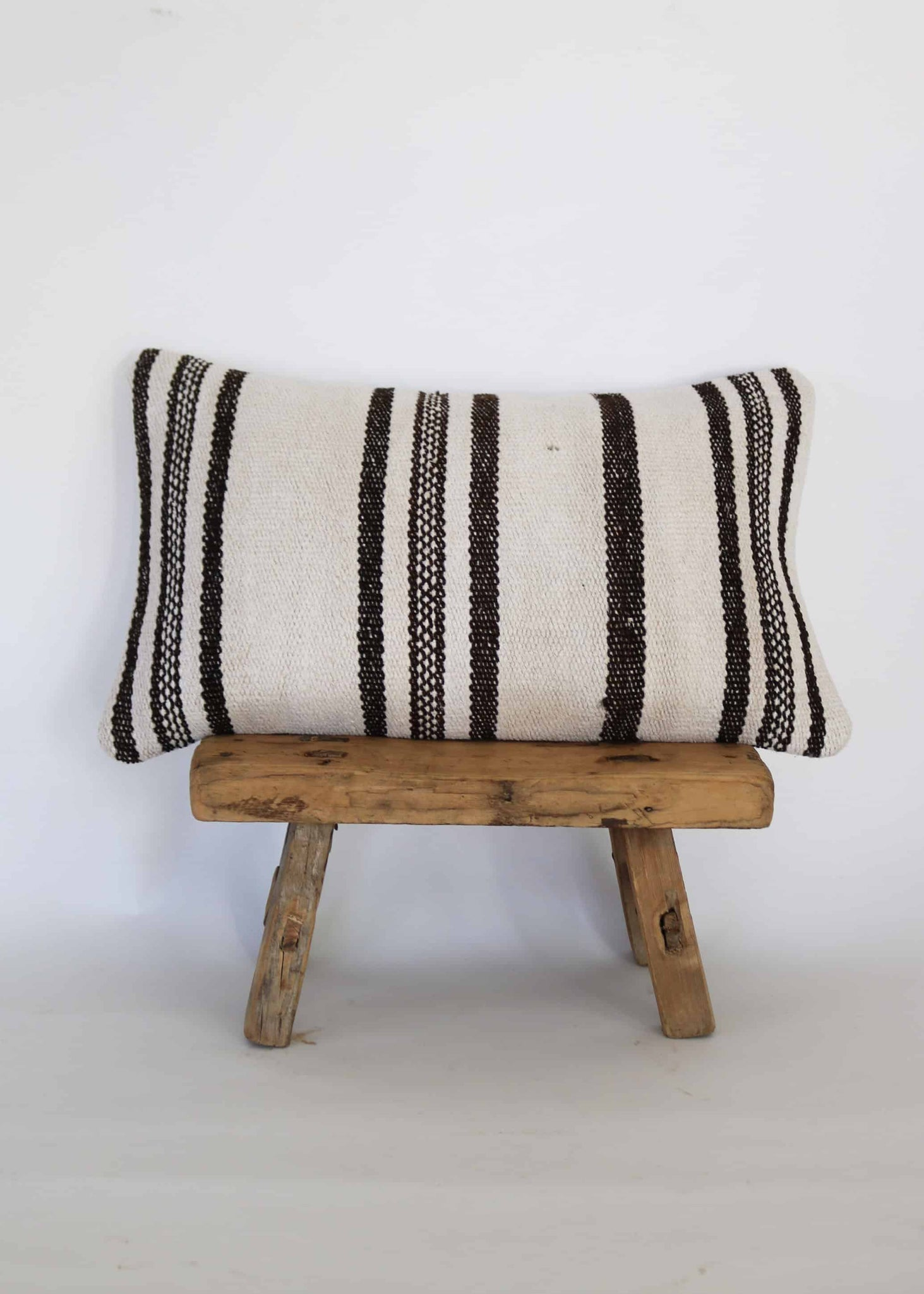 Vintage Hemp Kilim Lumbar Pillow (D)