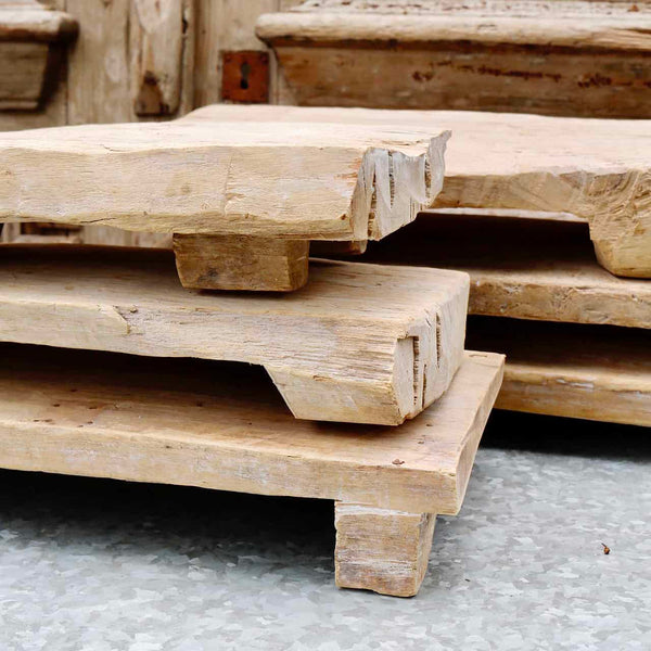 Bleached Natural Wood Riser