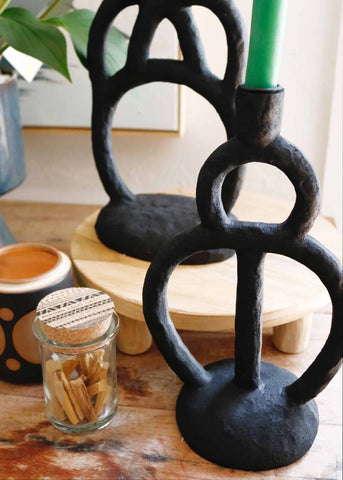 Polyresin Tabletop Candle Holder