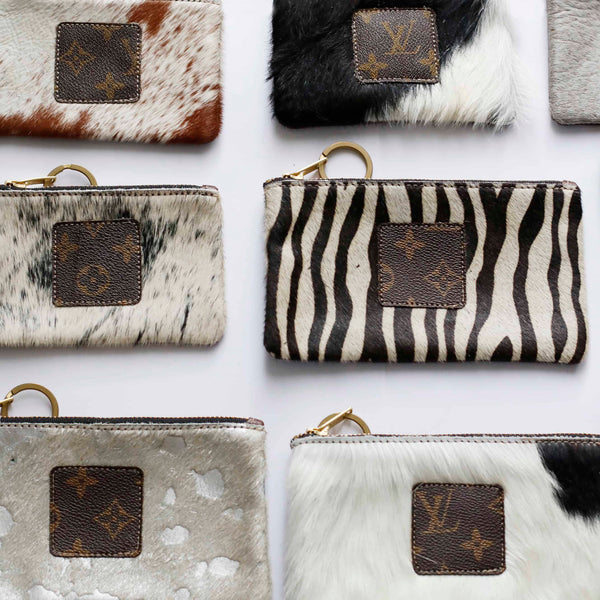 Re-purposed LV Cowhide Clutches