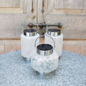 Hand Blown Glass Solar Lantern