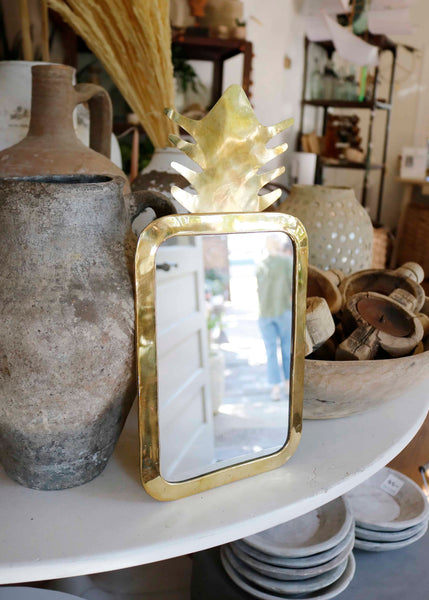 Gold Fruit Shaped Mirror