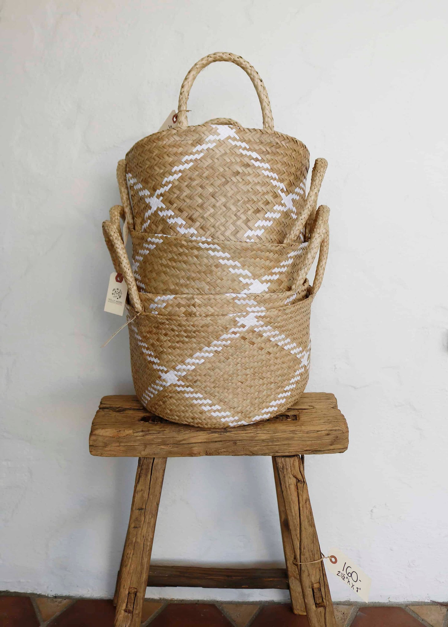 Tan and White Soft Basket