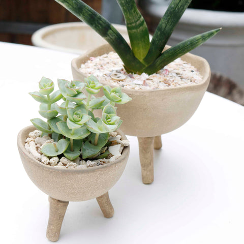Three Footed Terra-cotta Pot