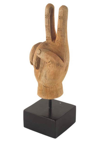 Peace and Love Wooden Hand