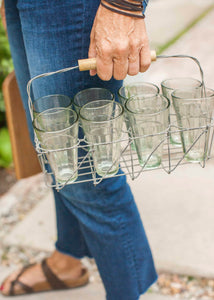 Rustic Glass Caddy Set of 8