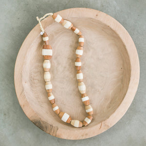 Ivory and Wood Beads