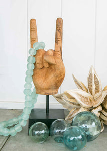 Wooden Rock Out Hand