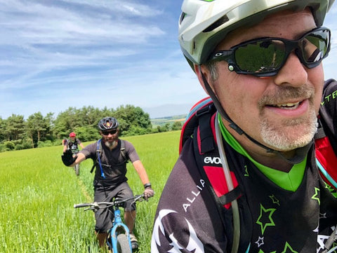Gone Biking Mad owner out of a ride with the Dorset Rough Riders.