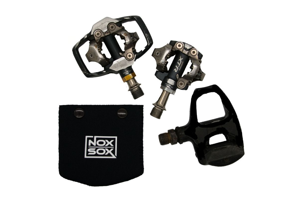 Nox Sox Small Pedal Covers fit a wide range of Clipless Pedals