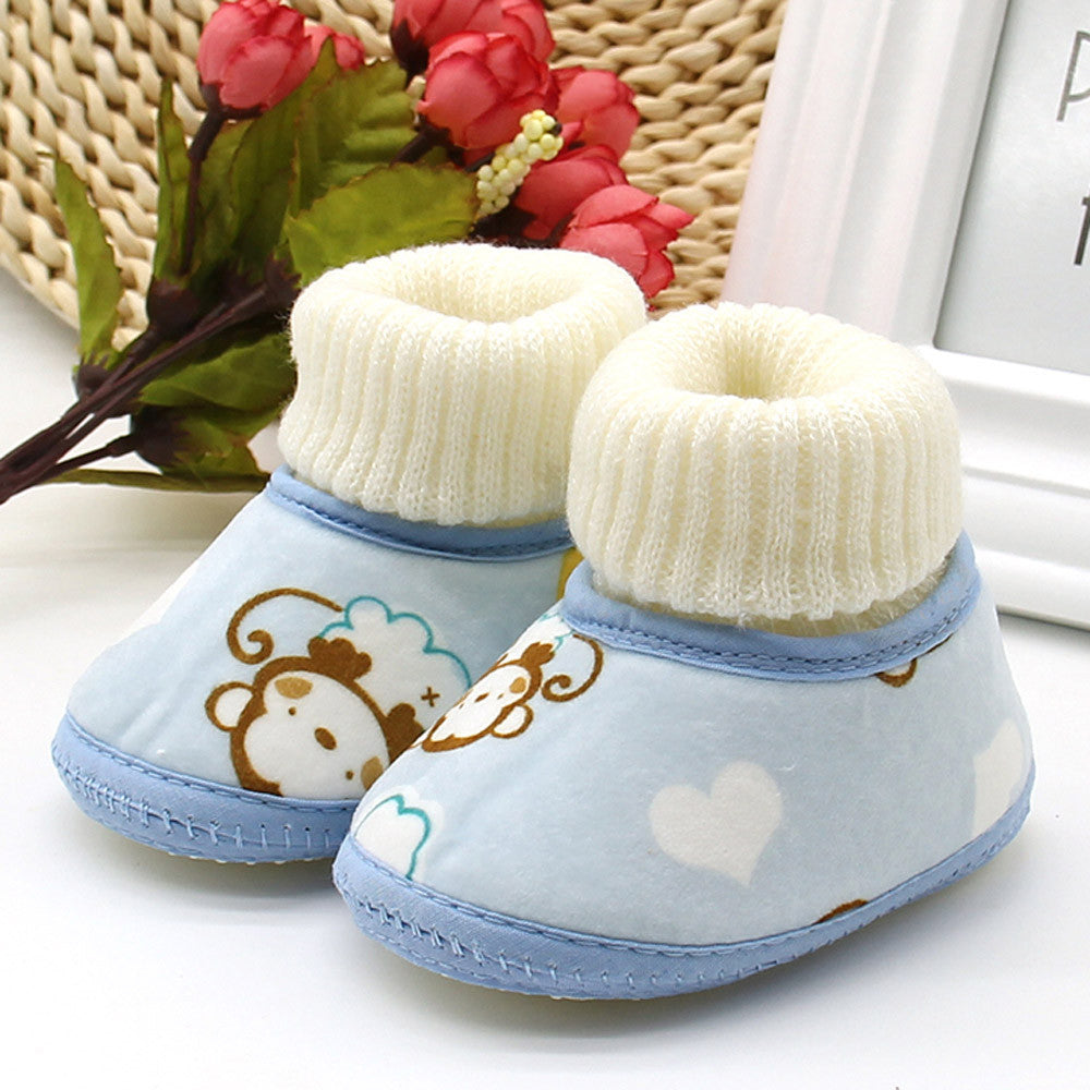 Baby Monkey Print Boots