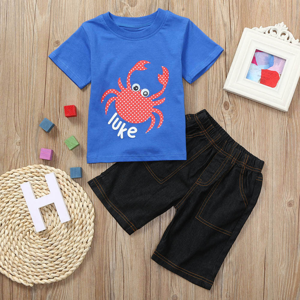 Crab Print Outfits Set
