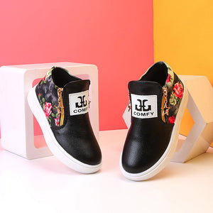 Zipper Letter Shoes