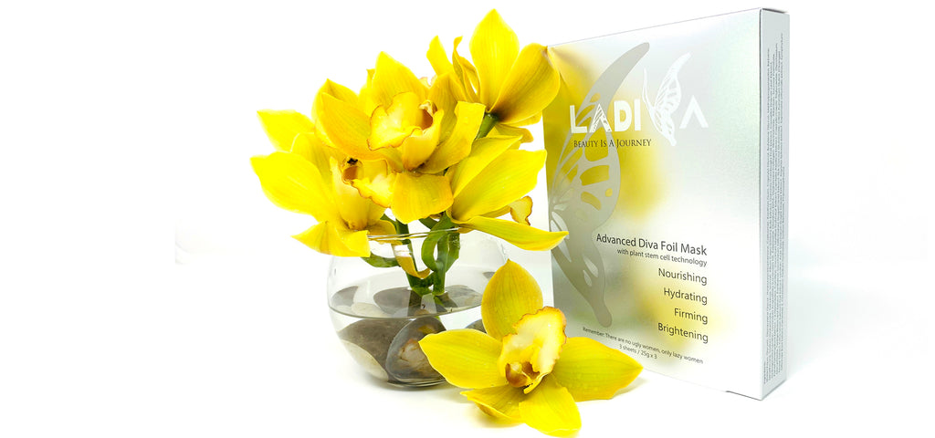 Ladiva Beauty Advanced Diva Gold Foil Mask with Plant Stem Cell Technology