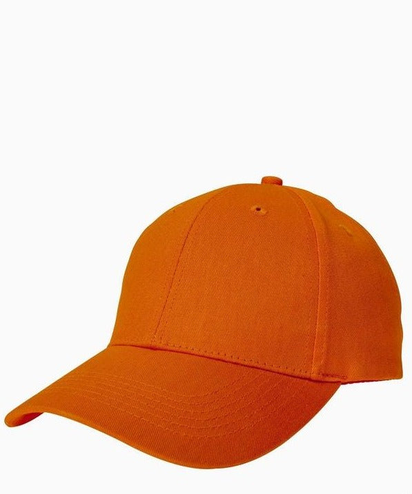 Orange Unisex 6-Panel Structured Twill Cap