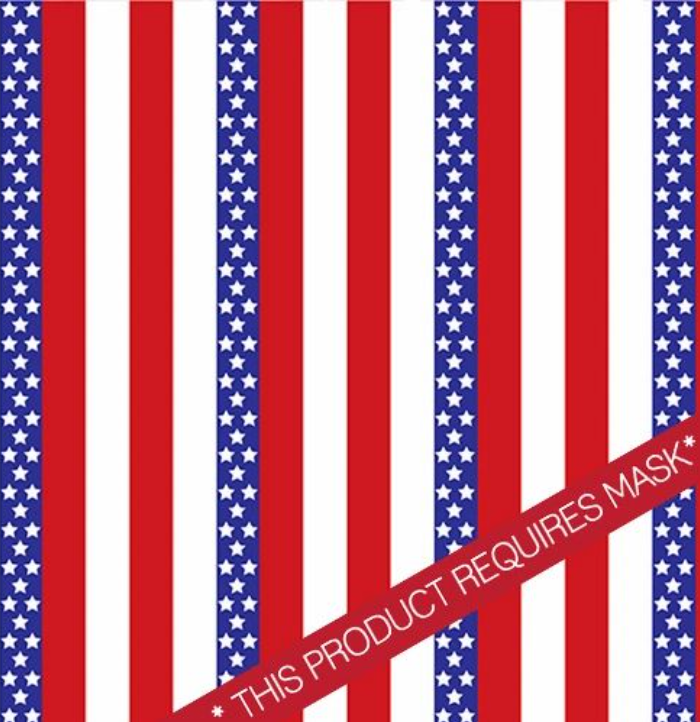 "USA Stars and Stripes 12"" Pattern Heat Transfer Vinyl / Siser Easy Patterns / Printed HTV"