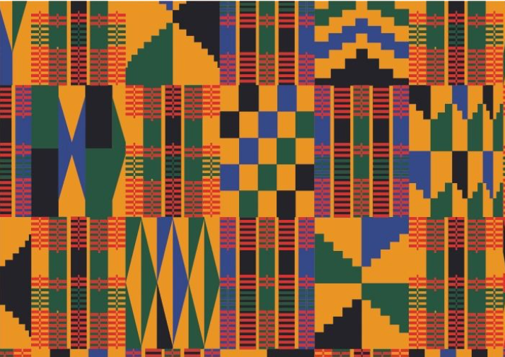 "Kente 12"" Pattern Heat Transfer Vinyl / Siser Easy Patterns / Printed HTV"