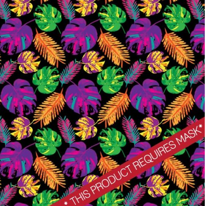 "Palm Tree Party Pattern 12"" Pattern Heat Transfer Vinyl / Siser Easy Patterns / Printed HTV"
