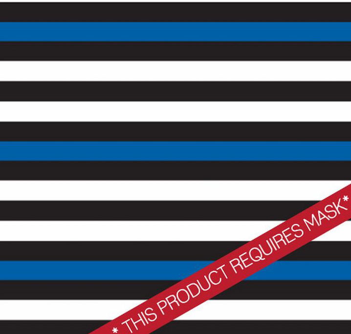 "Police Stripes Custom 12"" Pattern Heat Transfer Vinyl / Siser Easy Patterns / Printed HTV"