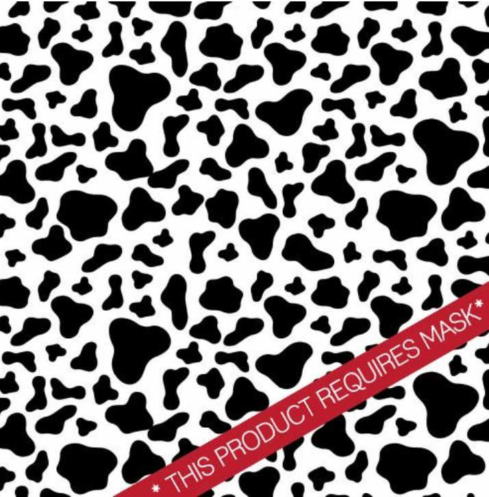 "Cow Print 12"" Pattern Heat Transfer Vinyl / Siser Easy Patterns / Printed HTV"