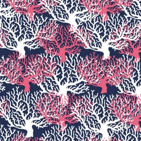 "Coral Reef 12"" Pattern Heat Transfer Vinyl / Siser Easy Patterns / Printed HTV"