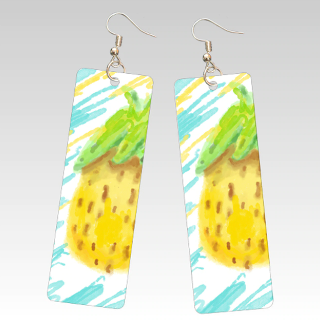 Sublimation Rectangle Earrings