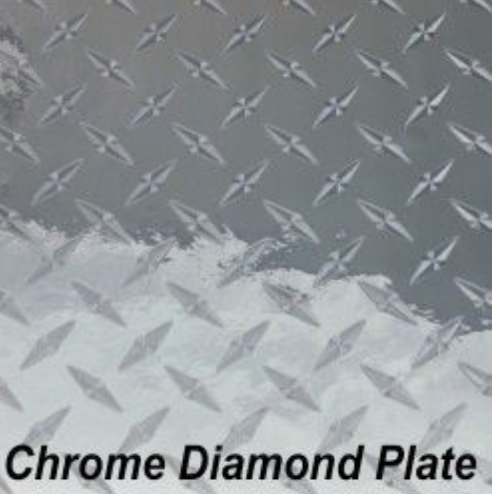 Holographic - Chrome Dimond Plate - Permanent Adhesive Vinyl