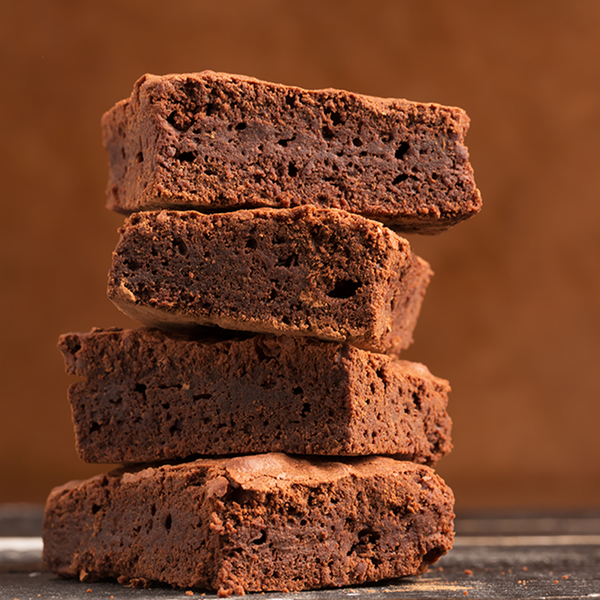 Dark Chocolate Brownies - Made with Ghirardelli Cocoa Powder