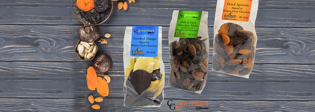 Dried Fruits and Nuts dipped in dark chocolate