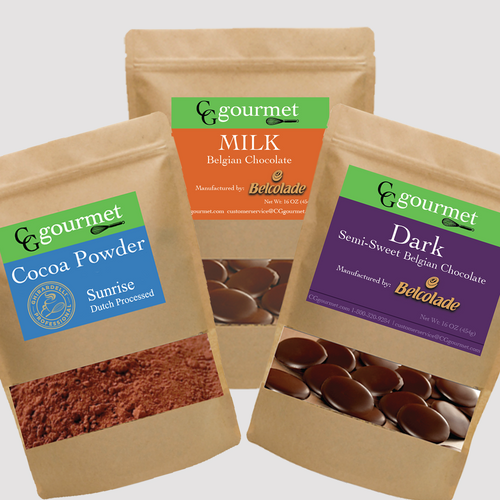 Baking Chocolate Set | Belcolade Dark, Belcolade Milk & Cocoa Powder (1LB each) | Free Shipping