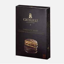 Load image into Gallery viewer, CACHAFAZ 6 Dark Chocolate Alfajores Filled with Dulce de Leche