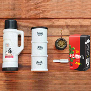 Mate-Termo Kit from Argentina + Yerba Mate (herb) | Gift Presentation