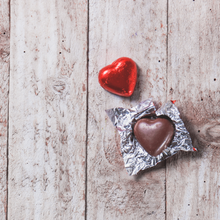 Load image into Gallery viewer, Valentine's Day Gift Box of Belgian DARK Chocolate Hearts - 9 chocolates