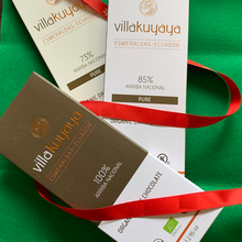 Load image into Gallery viewer, VILLAKUYAYA Organic Dark Chocolate Variety Pack 3 bars | Ecuador | Keto friendly