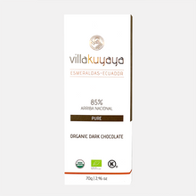 Load image into Gallery viewer, Villakuyaya NTENSE DARK 85% | 3-PACK bars | Keto Friendly