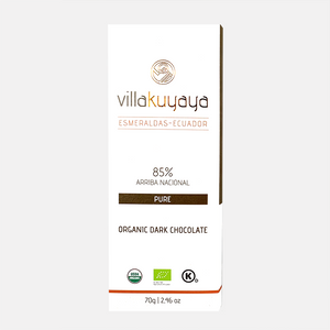 Villakuyaya NTENSE DARK 85% | 3-PACK bars | Keto Friendly