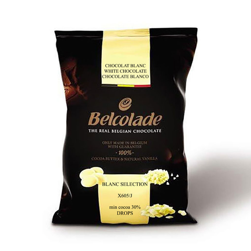 Belcolade Belgian White Chocolate Blanc Selection 30% | Couverture 11LB FREE SHIPPING