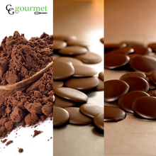 Load image into Gallery viewer, Baking Chocolate Set | Belcolade Dark, Belcolade Milk & Cocoa Powder (1LB each) | Free Shipping
