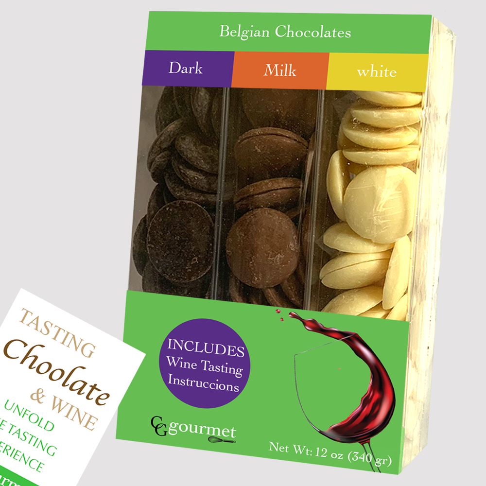 Mother's Day Chocolate Gift Variety Pack | Milk, Dark and White Belgian Chocolates (12 OZ)
