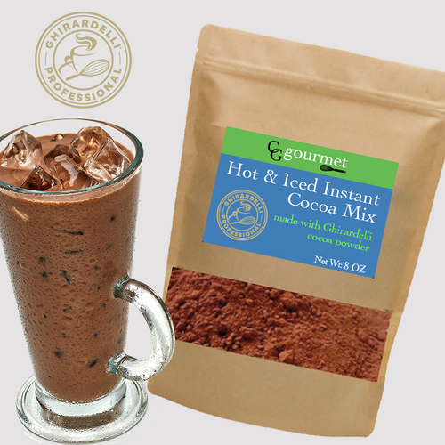 Iced and Hot Cocoa Mix (Instant)| Made with Ghirardelli Cocoa Powder 8 OZ (8 Servings)