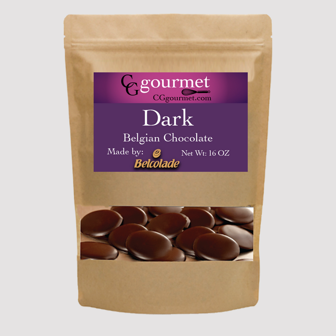 Belcolade Belgian Dark Chocolate Discs 16 OZ - Baking Chocolate