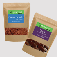 Load image into Gallery viewer, Baking Belcolade Dark Chocolate & Cocoa Powder (16 OZ. each)