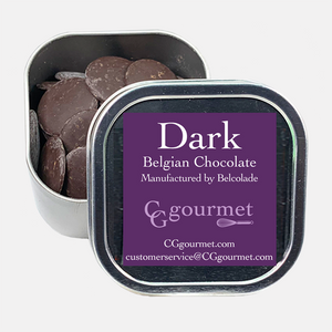Gift & Party Favors, Belgian Chocolates | Reusable Canisters | 5oz (set of 4) Dark, Milk and White.