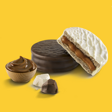 Load image into Gallery viewer, HAVANNA 6 Mix Alfajores filled with Dulce de Leche  (3 Dark, 3 White Chocolate)