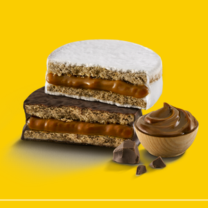 HAVANNA 6 Mixed Alfajores filled with Dulce de Leche  (3 Dark Chocolate, 3 White Merengue)