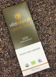 Villakuyaya Organic 3-PACK PURE DARK 100% Chocolate bars | KETO Friendly